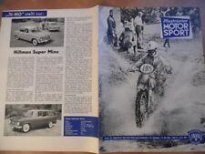 ILLUSTRIERTER MOTORSPORT 14 - 11.7. 1962 Rundum Glashütte MZ ES 250 Hillman Minx