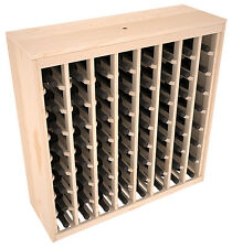 64 Bottle Ponderosa Pine Cabinet-Style Wine Rack Kit. Hand Crafted in the USA.