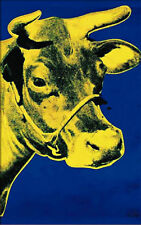 ANDY WARHOL - Yellow Cow on Blue (1971) ART PRINT 32x51 Offset Lithograph Poster
