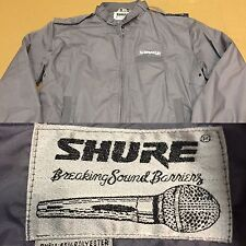 RARE! VINTAGE SHURE MICROPHONE 🎤 Jacket Sz M One Of A Kind MC Authentic