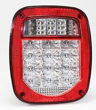Bright Red Jeep TJ CJ YJ JK Replacement Tail Light without LED's Illuminator