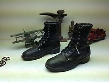 BLACK GORILLA BOOT LEATHER LACE UP MOTORCYCLE PACKER TRUCKER BOOT SIZE 9 M?