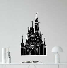 Castle Wall Decal Disneyland Vinyl Sticker Nursery Poster Fairy Decor Art 168crt