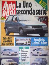 Auto Oggi 106 1988 La Uno 2° serie. Test Posche Carrera 4 e Audi Coupé 4  [Q106]