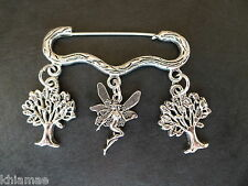 """Forest Fairy"" Cloak Brooch pagan silver wiccan jewellery woods magic pin"