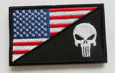 PUNISHER SKULL TACTICAL USA FLAG  MILITARY 3.0 INCH   PATCH 1PCS  SJK + 277