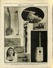 Objets Poilus Salle du Jeu de Paume Tuileries Art Guerre Paris/ Turkey 1915 WWI