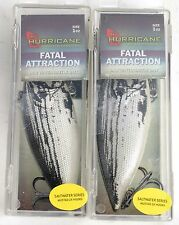 2 Hurricane Fatal Attraction 1oz Saltwater Shad Rattle Bait Lures, NEW