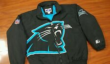 Vintage CAROLINA PANTHERS STARTER Puffer Jacket NFL Rare Stitched XL Coat VTG