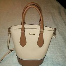 Calvin Klein saffiano leather bucket handbag Tote