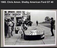 1965 Chris Amon Shelby American Ford GT40 In Pits Rare Car Poster! Own It!