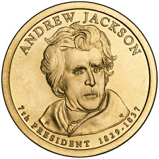 Andrew Jackson 2008 US P or D Unc Presidential Dollar Coin