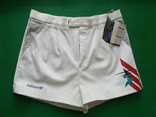 "DEADSTOCK RARE ADIDAS EDBERG 92 TENNIS COTTON SHORTS CASUALS 80 1990 S48 34"" VTG"