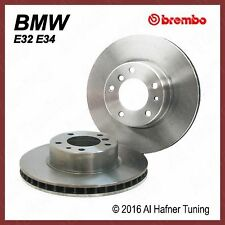 BMW E32 7, 5 series Brembo Front Rotor Set 34 11 6 756 090