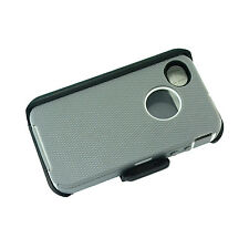 Gray WT New for Apple Iphone 4/4s Case Cover (Belt Clip fits Otterbox Defender)