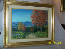 *Marion Gray Traver* American Listed New York Artist-Original Oil On Panel