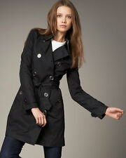 Auth. Burberry Brit Balarmoral Trench Coat Jacket Sizes s 4 (38) or 8 (42) $995