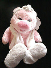 "18"" RBI Spa Friends Pink Pig towel slippers Shower Plush Stuffed Animal Toy-doll"
