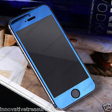 Blue Colored Tempered Glass Screen Protector for iPhone 5/5S