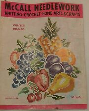 Vintage 1940s McCall Needlework Magazine Winter 1949-50 Knitting Sewing Crochet