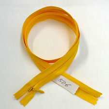 """12 pcs Quality BKC Invisible Zipper Top Open Bottom Closed 24"""" Yellow #506"""