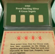 Willie: Singapore Set of 4 proof Silver bars 925