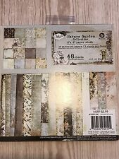 "Prima Nature Garden Collection 6""x6""  Paper Pad by Jodie Lee Designs  - Used"
