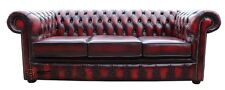 Brand New Chesterfield 3 Seater Sofa Settee Couch Antique Oxblood Real Leather