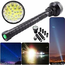 45000LM CREE XM-L LED 21x T6 Super Flashlight Zoom Torch Lamp Light 26650 18650