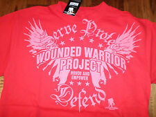 U.S MILITARY WOUNDED WARRIOR PROJECT  T-SHIRT RED SIZE LARGE