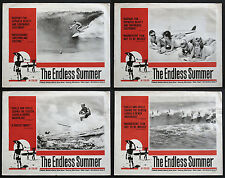 THE ENDLESS SUMMER BRUCE BROWN SURFING CLASSIC RARE 1966 LOBBY CARD SET