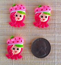 Strawberry Shortcake Inspired Flat Back Resin - Cabochon