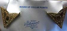Collar points tips tabs western shirt gold color horseshoe square dance NEW