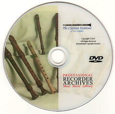 Professional RECORDER SHEET MUSIC Archive - DVD PDF