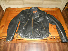 Men's Chrome Medium Motorcycle Jacket Thick! Leather Jacket MADE IN THE USA