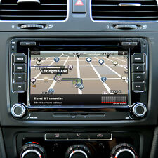 "7"" HD Touch Screen Sat-Nav/DVD/iPod/Bluetooth/USB/Steering-Wheel-Control for VW"