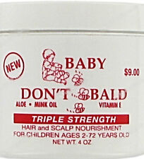 BABY DONT BALD Hairloss Treatments Hair Scalp 3x Strength Natural Aloe Mink Oil