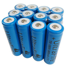 12 X 3.7V 18650 Battery 3800mAh Li-ion Rechargeable for Ultrafire Flashlight