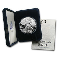 1 oz Proof Silver American Eagle Coin - Random Year - with Box and Certificate
