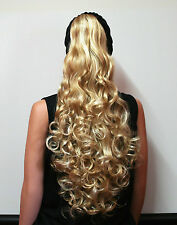 HAARTEIL BLOND MIX LOCKEN 70 CM Haarzopf HT31 Ponytail Hair Piece blonde wig