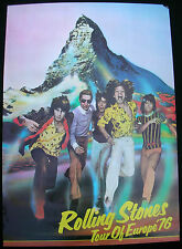The ROLLING STONES Tour Of Europe '76 UK ORG Concert POSTER Mick Keith Watts