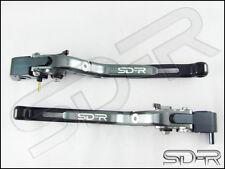Honda VTR1000 SP-1 SP-2 SDR Folding Adjustable Levers - Grey