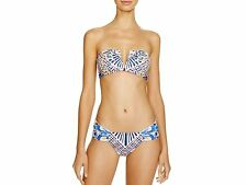 Mara hoffman paon v wire top et froncée bikini medium/small