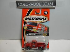 Matchbox Highway Heroes #15 Red 1956 Ford Pickup Truck