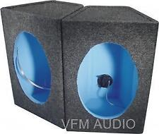 6x9 Inch Speaker Boxes with Grey Carpet (pair)