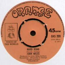 "JOHN MILES~HARD ROAD / YOU'RE TELLING ME LIES~1973 UK 7"" SINGLE~ORANGE OAS 209"