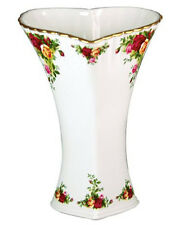 """Royal Albert Old Country Roses Heart Vase 9.5"""" H New In Box"""
