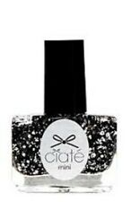 1 Ciate Mini Nail Polish HUMBUG PPM408 BLACK &SILVER FINGERNAIL GLITTER TOP COAT
