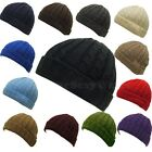 UNISEX MEN WOMEN STYLIST WINTER SNOW CUFFED CABLE KNIT BEANIE HAT CAP ONE SIZE