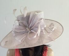 NIGEL RAYMENT PALE SILVER GREY WEDDING ASCOT OCCASION HAT MOTHER OF THE BRIDE
